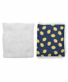 Grandma's Premium Finger Millet Pillow with 2 Pillow Covers Lemons Print - Blue