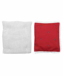 Grandma's Premium Finger Millet Pillow with 2 Pillow Covers Horse Print - Red