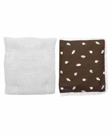 Grandma's Premium Finger Millet Pillow with 2 Pillow Covers Ice Cream Print - Brown