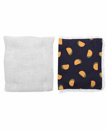 Grandma's Premium Finger Millet Pillow with 2 Pillow Covers Taco Print - Blue