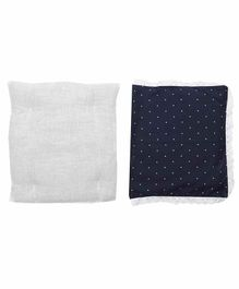 Grandma's Premium Finger Millet Pillow with 2 Pillow Covers Polka Dot Print - Blue