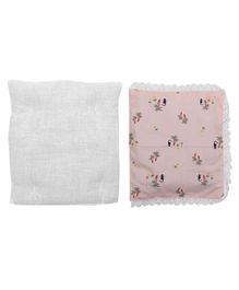 Grandma's Premium Finger Millet Pillow with 2 Pillow Covers Pineapple  Print - Pink