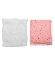 Grandma's Premium Finger Millet Pillow with 2 Pillow Covers Anchor Print - Peach