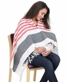 Lulamom Striped Nursing Shawl - Red