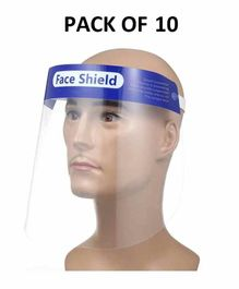 L.O.F Face Protective Shield with Transparent Cover Full Face 7 mm Thick White  - Pack of 10