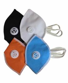 L.O.F Medium Size Reusable Cotton Face Mask Multicolour - Pack of 4
