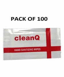 Clean Q Sanitizer Wipes - Pack of 100
