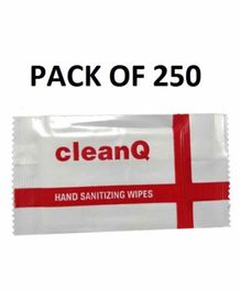 Clean Q Sanitizer Wipes - Pack of 250