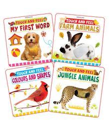 Dreamland Publications Touch and Feel Series Set of 4 Books - English
