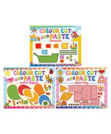Dreamland Publications Colour Cut & Paste Pack of 3 - English
