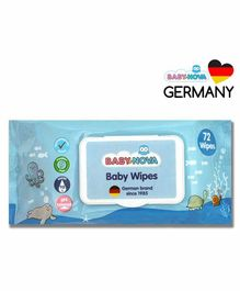 Baby-Nova 98% Water Baby Wet Wipes with Aloe Vera and Vitamin E - 72 Wipes
