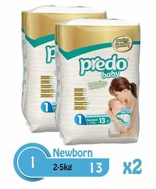 Predo Baby Absorbent Diapers Pack of 2 - 13 Pieces Each