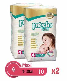 Predo Baby Maxi Standard Diapers Size 2 Pack of 2 - 10  Pieces Each