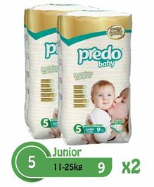 Predo Baby Junior Diapers Size 5 - 18 Pieces
