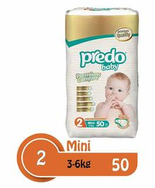 Predo Baby Mini Diapers Size 2 - 50 Pieces