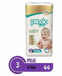 Predo Baby Midi Diapers Size 3 - 44 Pieces