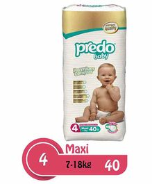 Predo Baby Diapers Maxi Size 4 - 40 Pieces