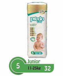 Predo Baby Junior Diapers Size 5 - 32 Pieces