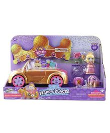 Shopkins Hallpy Places Royal Convertible Car With Mini Figurine - Multicolor