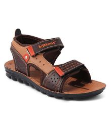 Kittens Shoes Velcro Closure Sandals - Brown