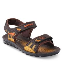 Kittens Shoes Dual Color Sandals - Brown & Yellow