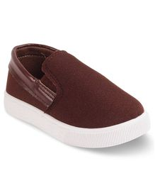 Kittens Shoes Solid Loafers - Brown