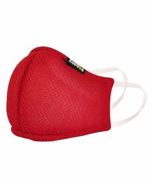 Smily Kiddos Reusable Anti Pollution Face Mask - Red