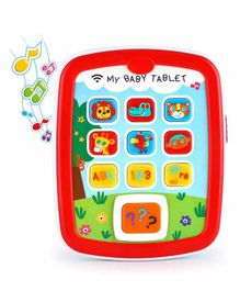 Planet of Toys Educational Tablet with Music and Lights - Multicolor