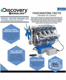 Discovery Model Motor Engine Kit Multicolor - 100 Pieces
