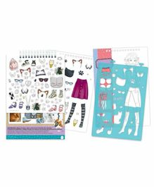 Make it Real Fashion Design Sketchbook Pretty Kitty - Multicolor
