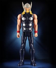 Marvel Avengers Titan Hero Series Blast Gear Thor Action Figure Black Grey - Height 30 cm