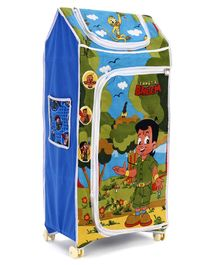 Kids Zone Chota Bheem Almirah with Wheels - Blue