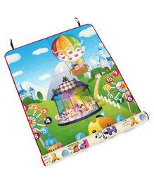 Kids Zone Double Sided Play Mat - Multicolour