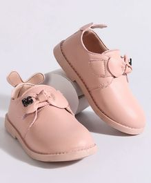 Hoppipola One Color Bow Decorated Shoes - Pink
