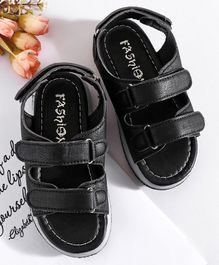 Hoppipola Solid Sandals - Black