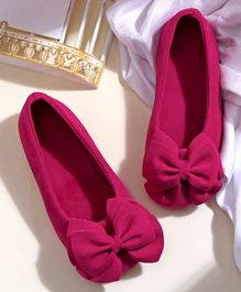 Hoppipola One Color Bow Decorated Bellies - Pink