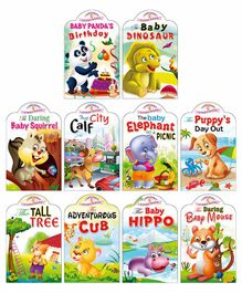 Sawan Baby Animal Story Board Books Pack of 10 - English