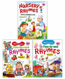 Sawan Nursery Rhymes with Stories and G.K Pack of 3 - Hindi English