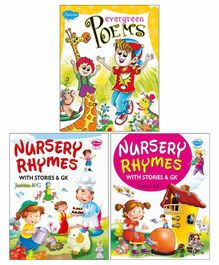 Sawan Nursery Rhyme Books with Stories and G.K Pack of 3 - English
