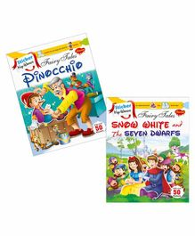 Sawan Sticker Key Words Book Pinocchio & Snow White & The Seven Dwarfs Set of 2 - English