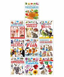 Pre-School Picture Book Series | Pack of 10 Books   | Super jumbo combo for collecters and library Learning books