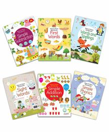 Pegasus Reusable Washable Wipe & Clean Books Set of 6 - English