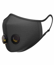 SanNap Antipollution N95 Face Mask with Dual Breathing Valves - Black