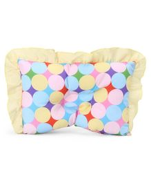 Rectangle Shaped Polka Dot Pillow - Yellow Multicolor