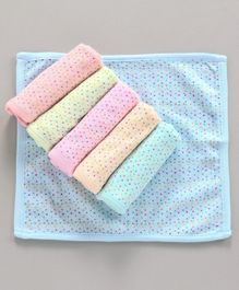 Simply Printed Wash Cloths Pack of 6 - Multicolor