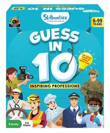 Skillmatics Guess in 10 Inspiring Professions Card Game Multicolor - 58 Cards