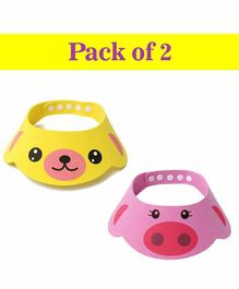 Syga Baby Bath Shower Cap Pink & Yellow - Pack of 2
