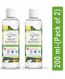 Donum Naturals Alcohol Based Hand Sanitizer Pack of 2 - 200 ml Each