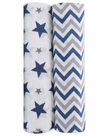 haus & kinder 100% Cotton Muslin Swaddle Wrap Pack of 2 - White