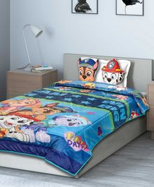 Saral Home Paw Patrol Quilt with 2 Cushions - Multicolor